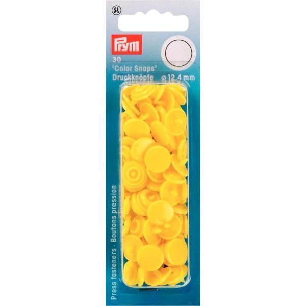 """Кнопки светло желтые """"Color Snaps"""" 12,4 мм Prym 393107 фото"""