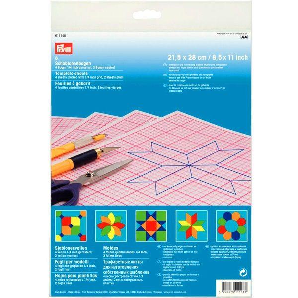 Трафаретные листы для шаблонов прозрачные Prym 611148 фото