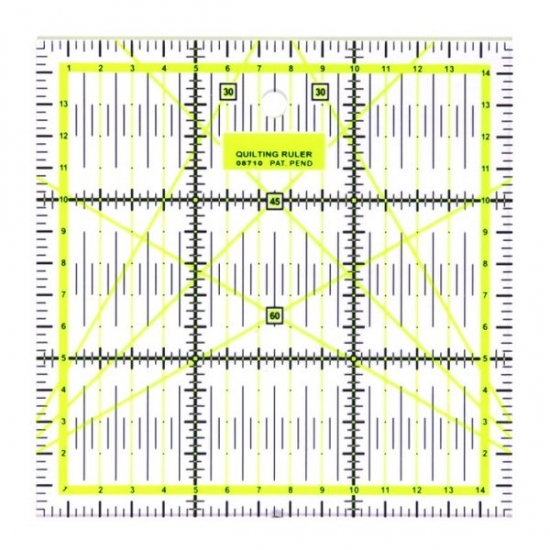 Линейка для пэчворка и квилтинга квадратная 15х15