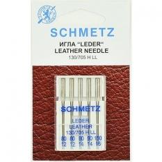 Голки для шкіри асорті Schmetz Leather №80-100 (5 шт). фото