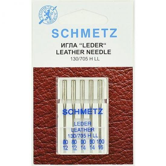 Голки для шкіри асорті Schmetz Leather №80-100 (5 шт).