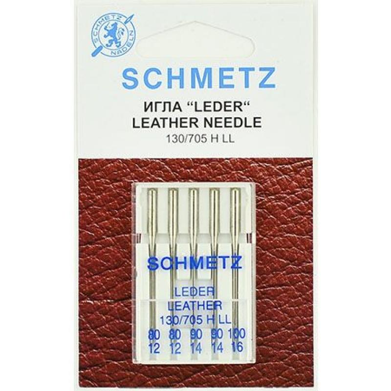 Иглы для кожи ассорти Schmetz Leather №80-100