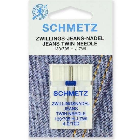Подвійна голка Schmetz Twin Jeans №100/4,0