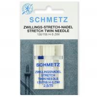 Двойная игла Schmetz Twin Stretch №75/2,5 фото