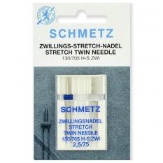 Подвійна голка Schmetz Twin Stretch №75/2,5 фото