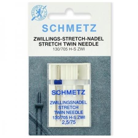 Подвійна голка Schmetz Twin Stretch №75/2,5