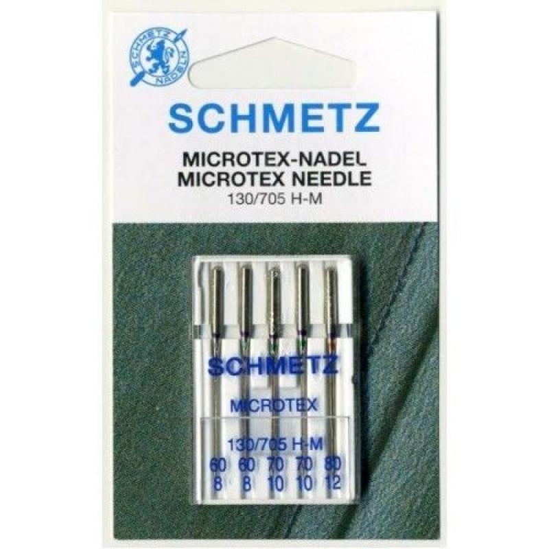 Голки для мікротекстиля асорті Schmetz Microtex №60-80