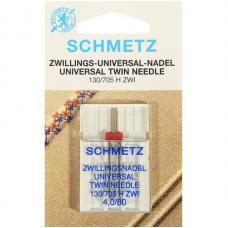 Подвійна голка Schmetz Twin Universal №80/4 фото