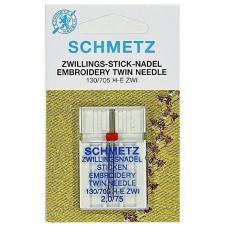 Подвійна вишивальна голка Schmetz Embroidery №75/2,0 фото