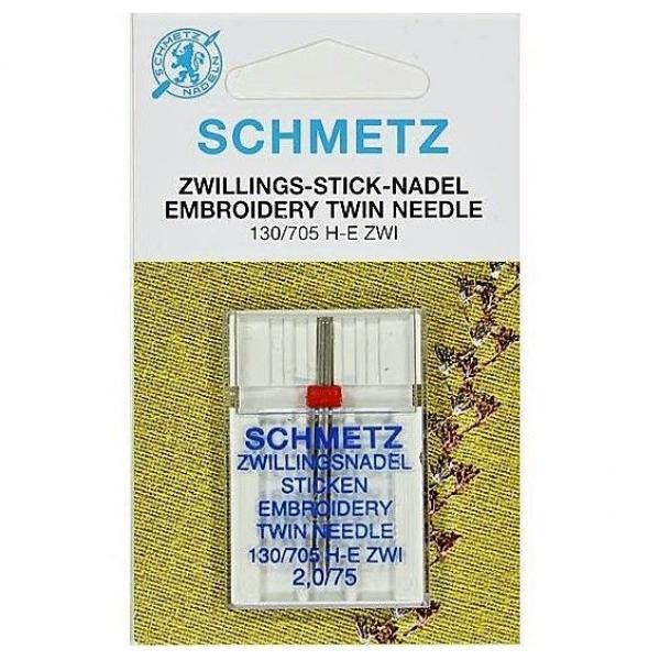 Двойная вышивальная игла Schmetz №75/2,0 фото