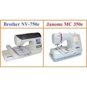Обзор вышивальных машин Janome Memory Craft 350E и Brother NV 750 E